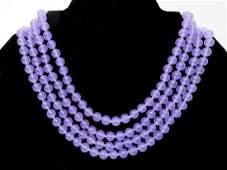 Lavender Jade Four Strand Necklace