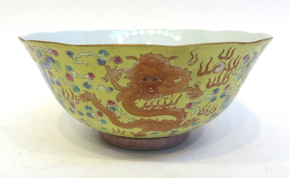 Porcelain Bowl With Dragons