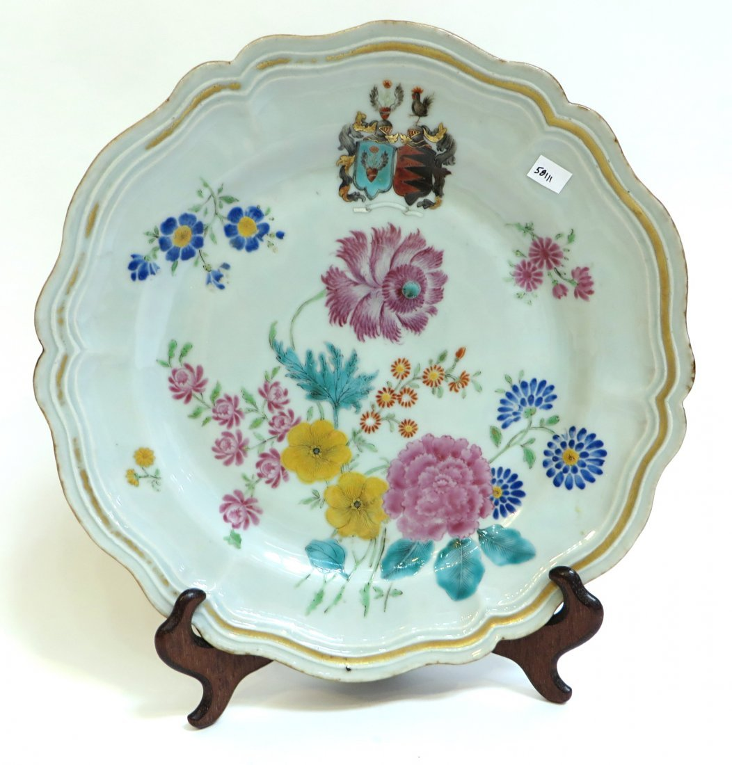 Qing Famille Rose Plate