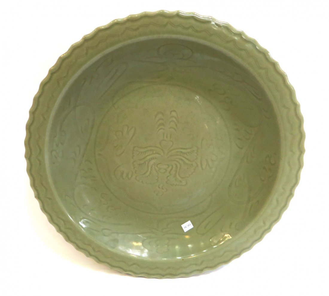 Large Longquan Ming Dynasty Charger