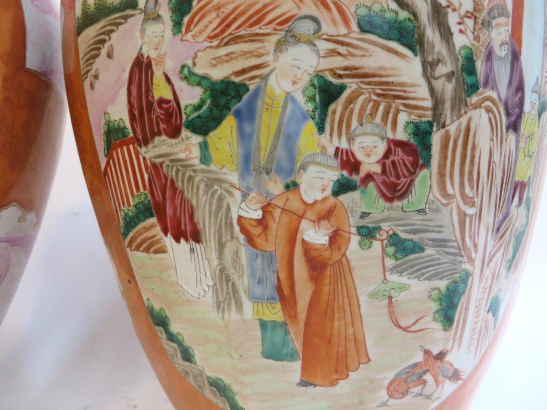 Pair Lidded Tea Jars - 2