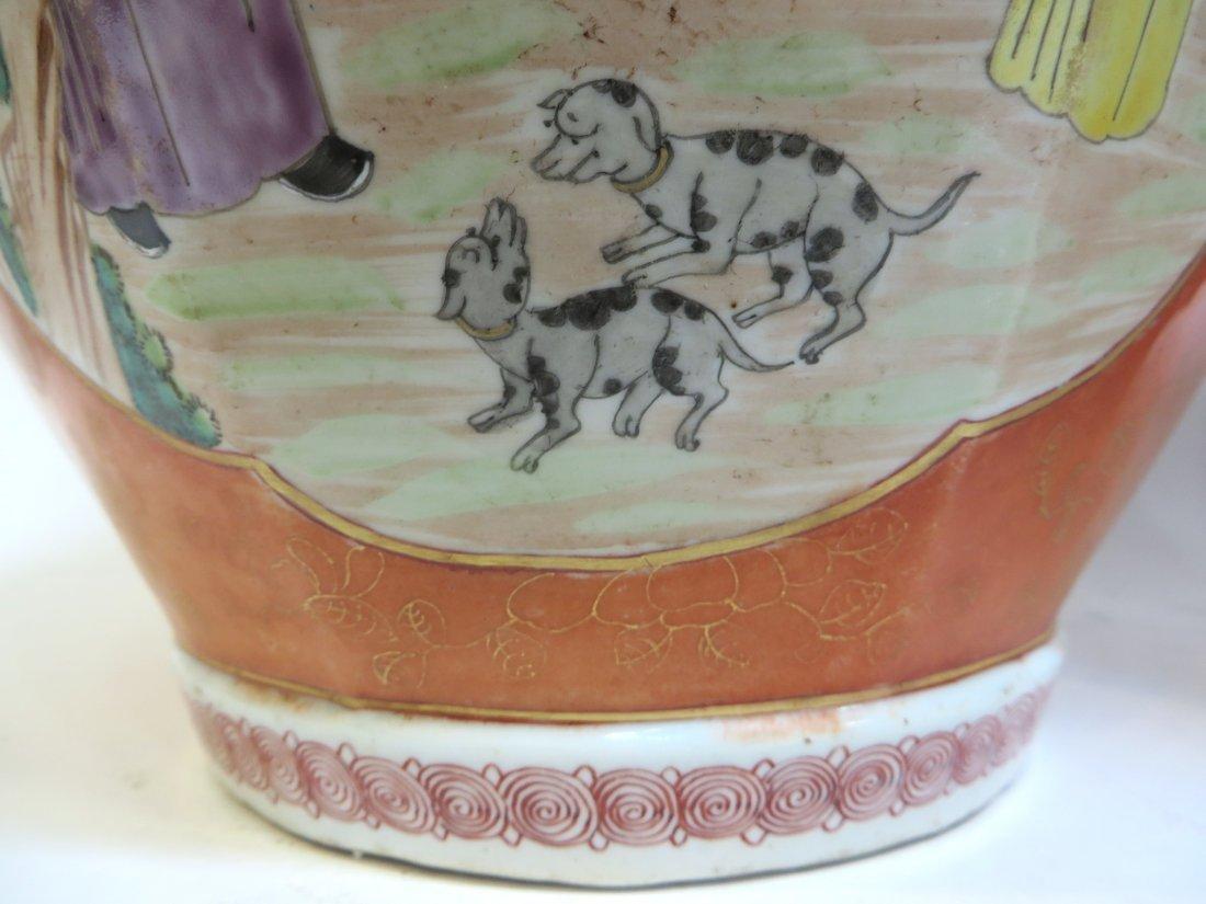 Pair Lidded Tea Jars - 8