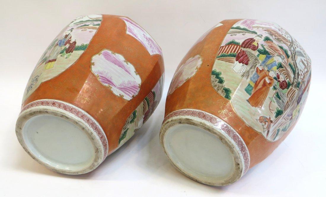 Pair Lidded Tea Jars - 9