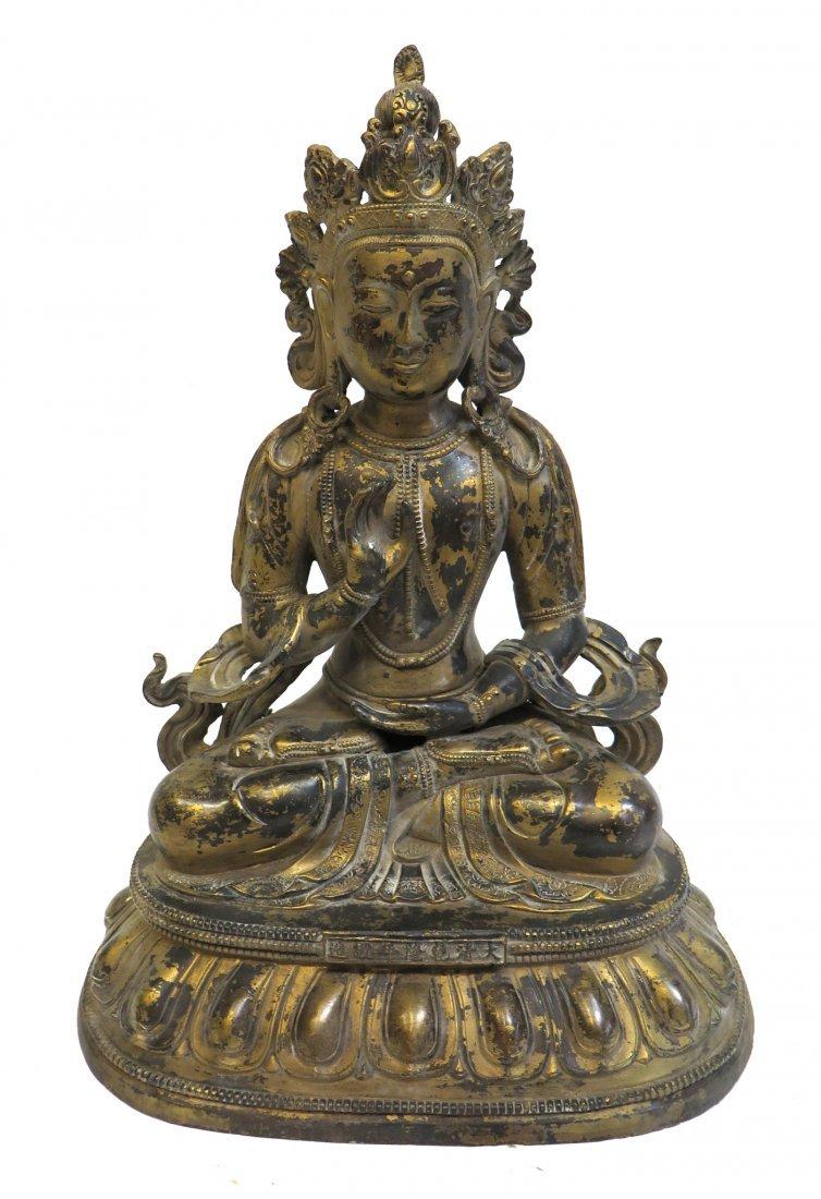 19th C. Gilt Bronze Buddha