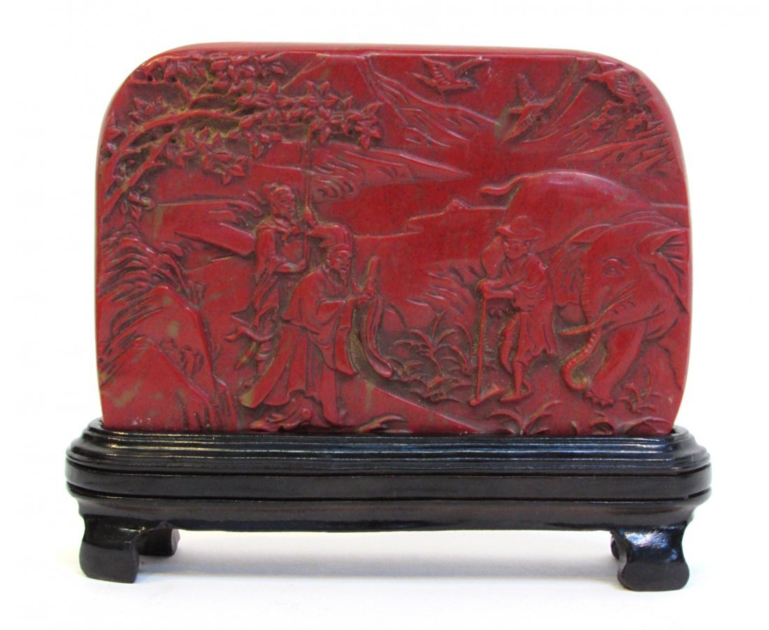 Bloodstone Seal With Stand