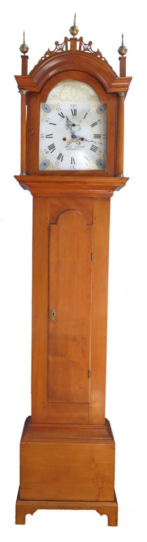 Late Federal Tall Case Clock By John Osgood