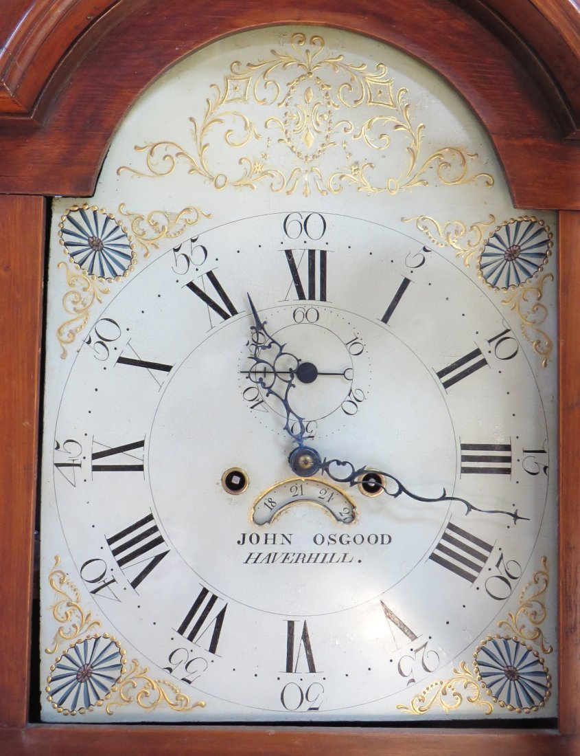 Late Federal Tall Case Clock By John Osgood - 8