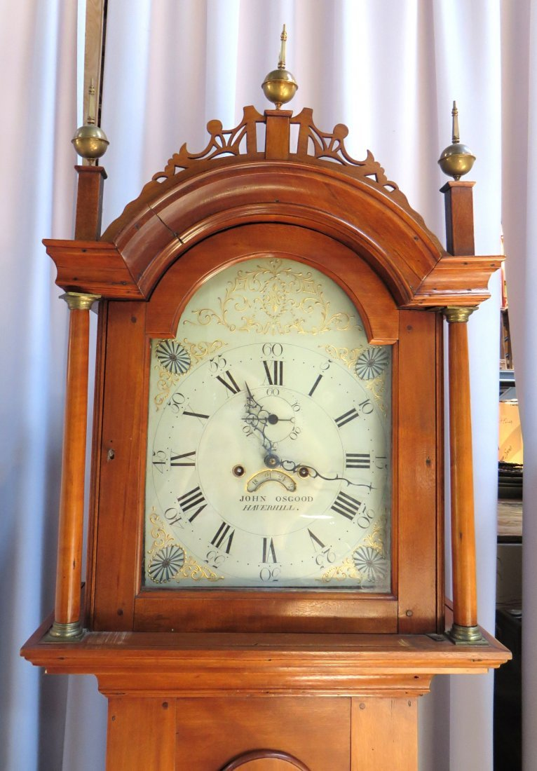 Late Federal Tall Case Clock By John Osgood - 9