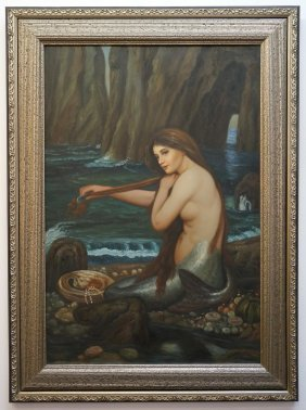 Framed Painting Of A Mermaid