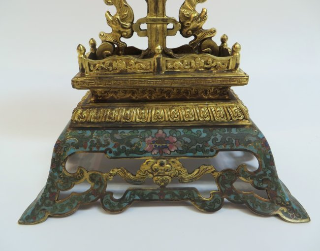 Jade table screen with cloisonne stand lot 32 for Cloison stand
