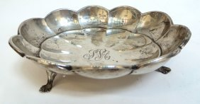 Fluted Sterling Nut Bowl By Wallace