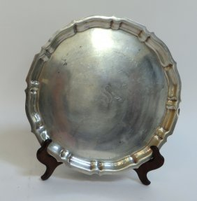 Gorham Sterling Silver Round Chippendale Tray