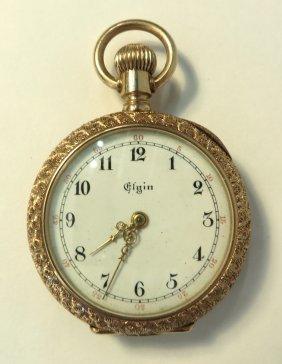 Ladies Elgin Gold Pendant Watch