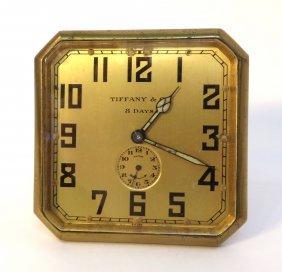 Tiffany Eight Day Desk Or Travel Alarm Clock