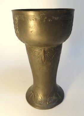 Kayserzinn Art Nouveau Jugendstil Pewter Vase