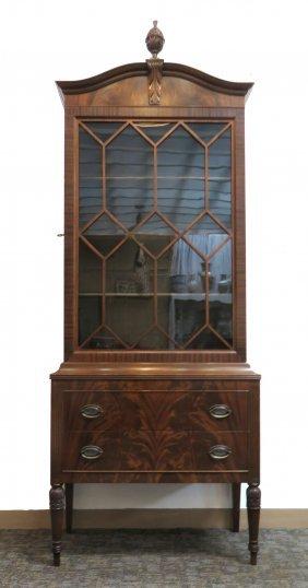 Sheraton Style Mahogany Cabinet Or Vitrine