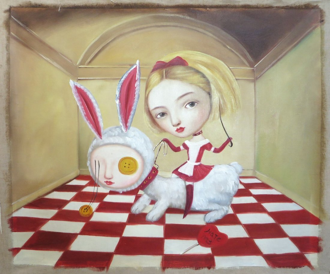 Surrealistic Alice Painting