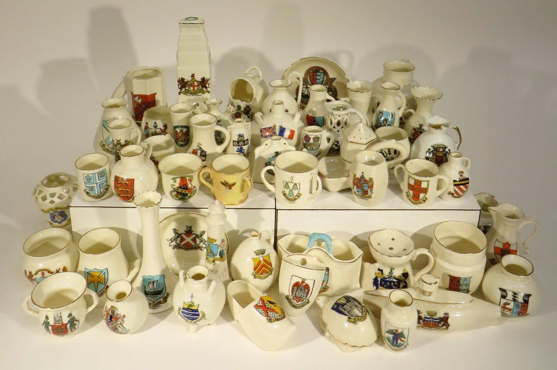 Assorted Crested China By W. H. Goss