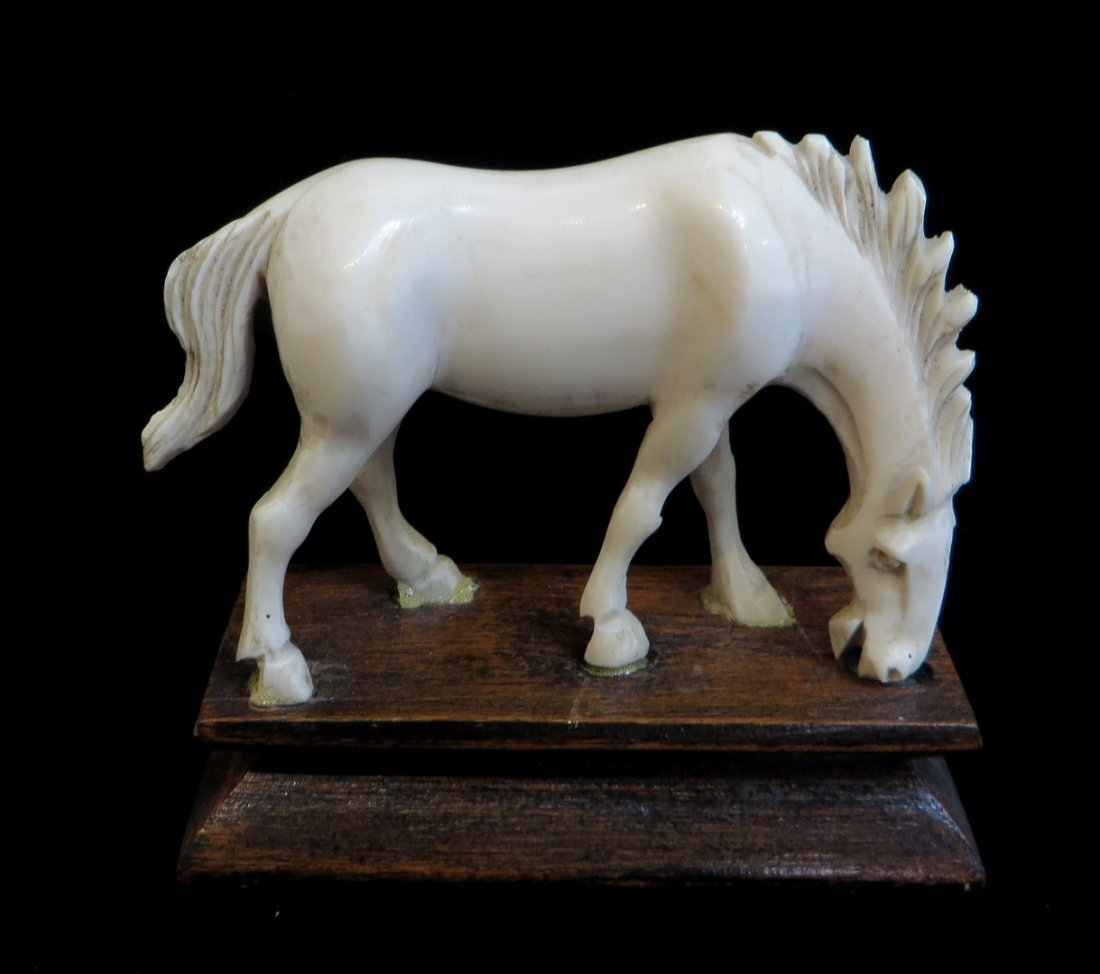 Antique Chinese Bone Horse Figure