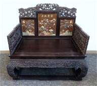 Qing Zitan Throne Chair