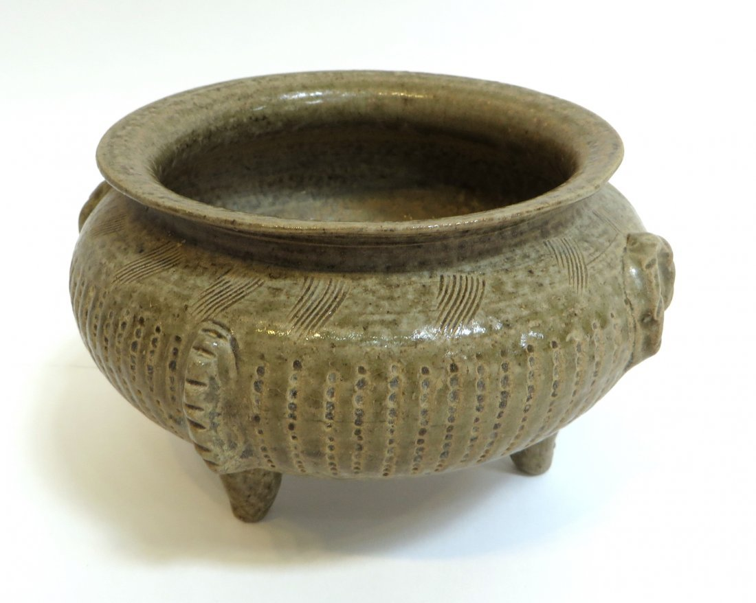 Chinese Tripod Censer In Celadon