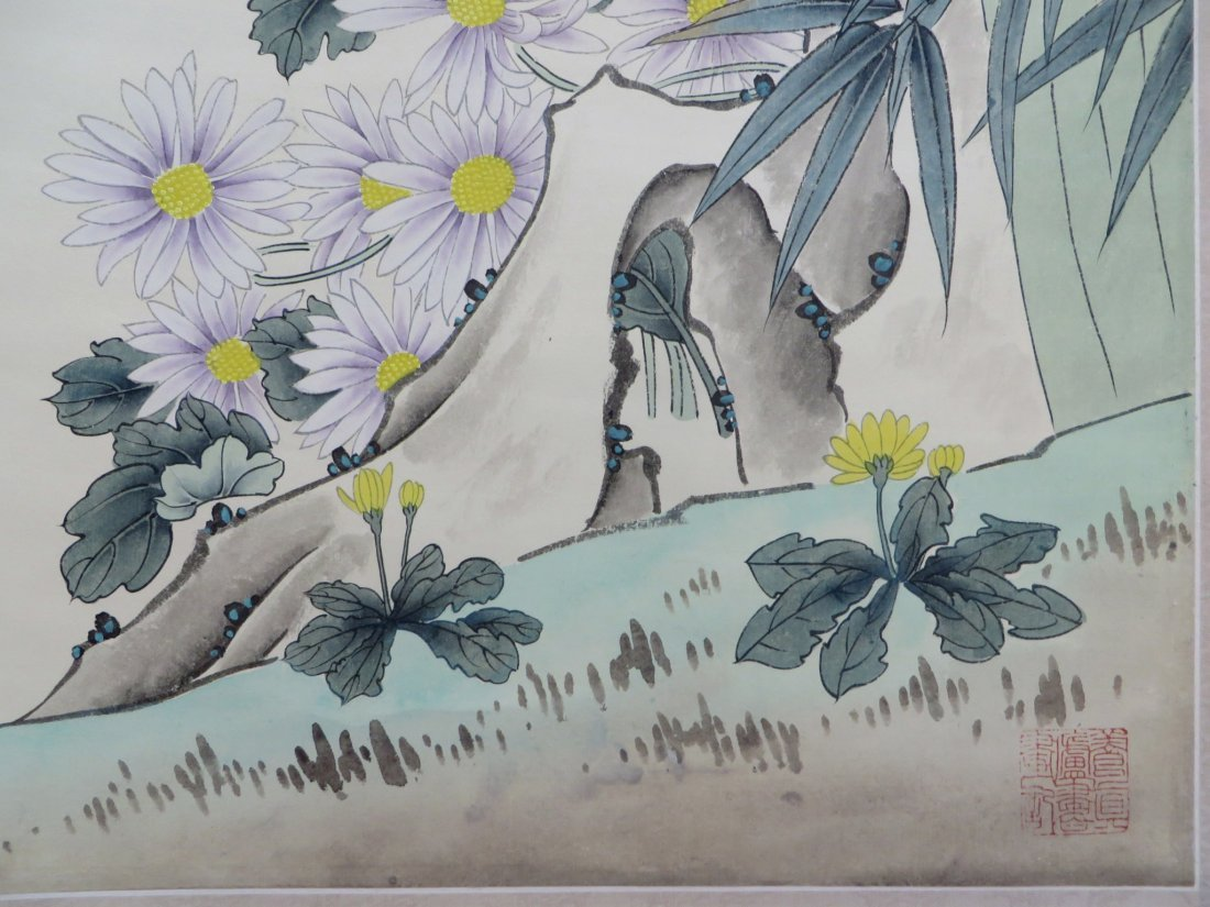 Songbirds With Flowers Scroll - 5