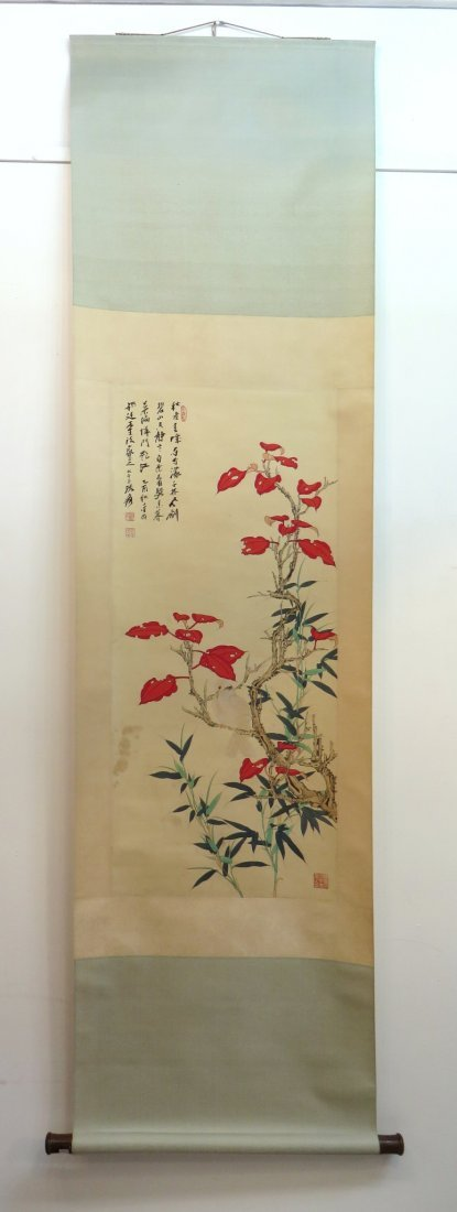 Chinese Pigeon Scroll - 2