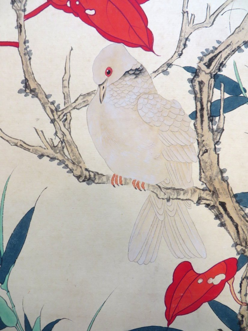 Chinese Pigeon Scroll - 6