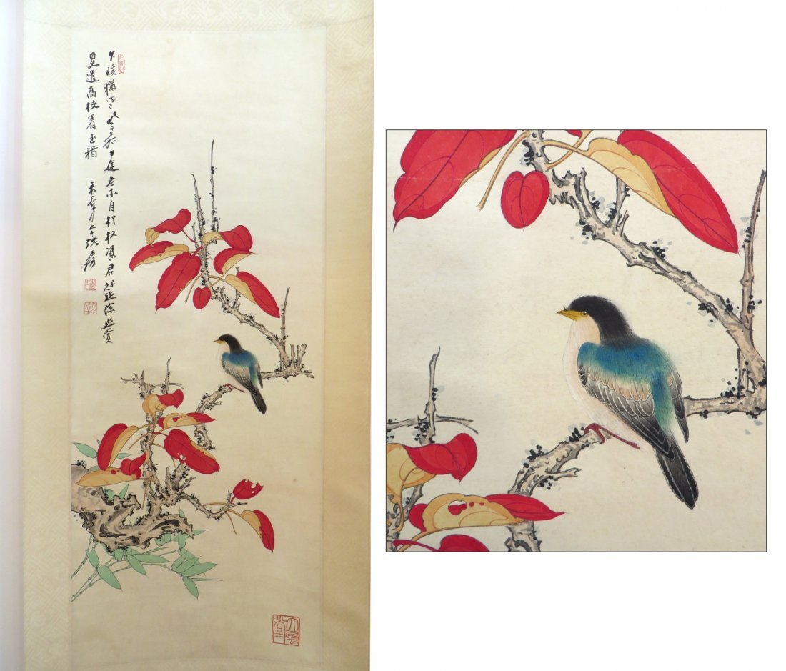Chinese Songbird Scroll