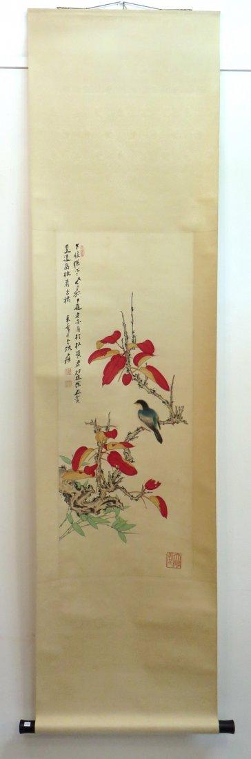 Chinese Songbird Scroll - 3