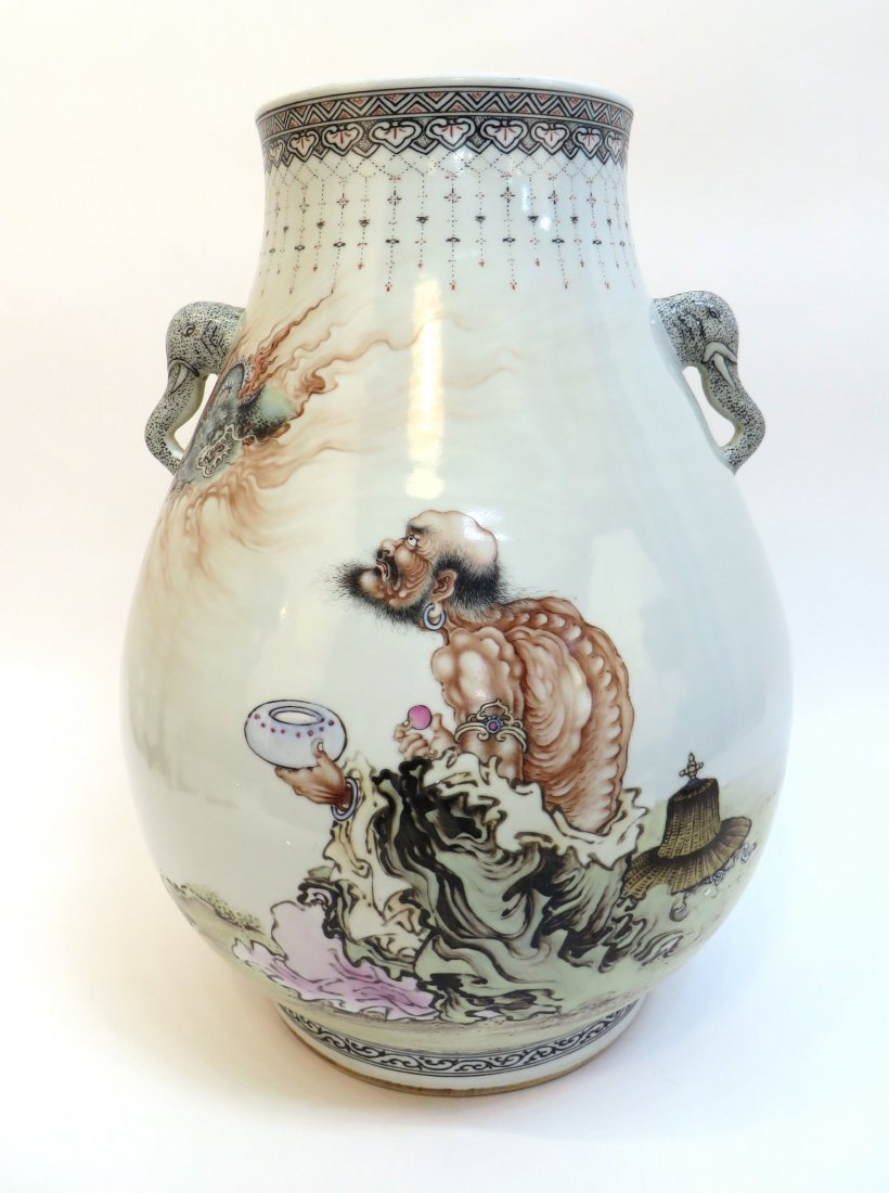 Large Chinese Vase With Immortal Figure