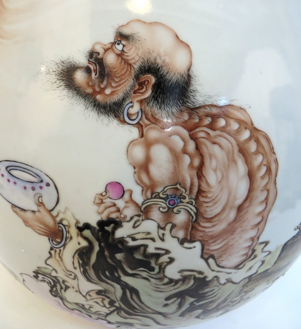 Large Chinese Vase With Immortal Figure - 2