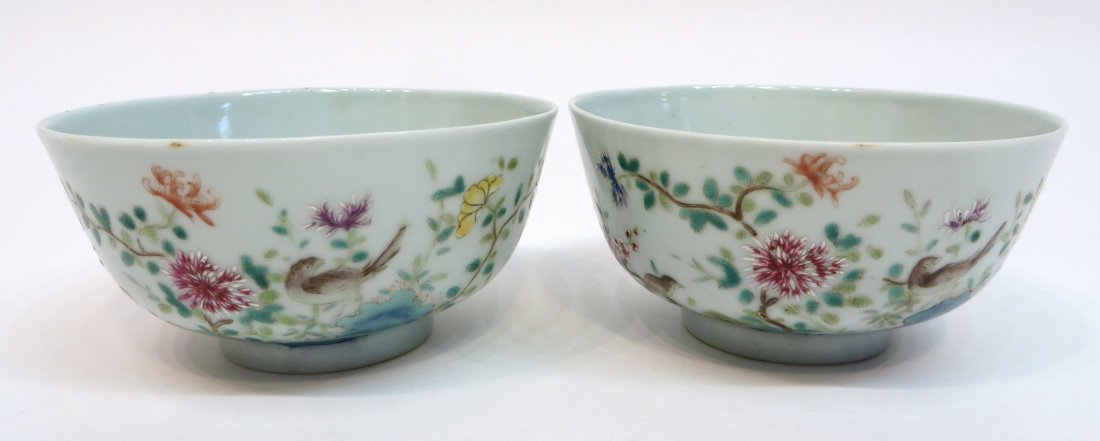 Pair Of Chinese Xianfeng Porcelain Bowls