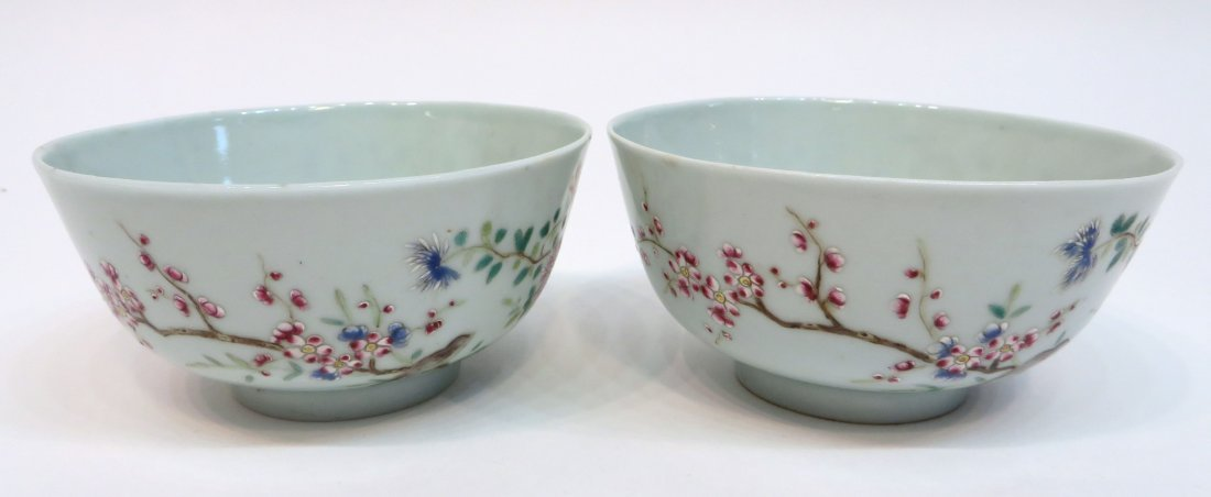 Pair Of Chinese Xianfeng Porcelain Bowls - 4