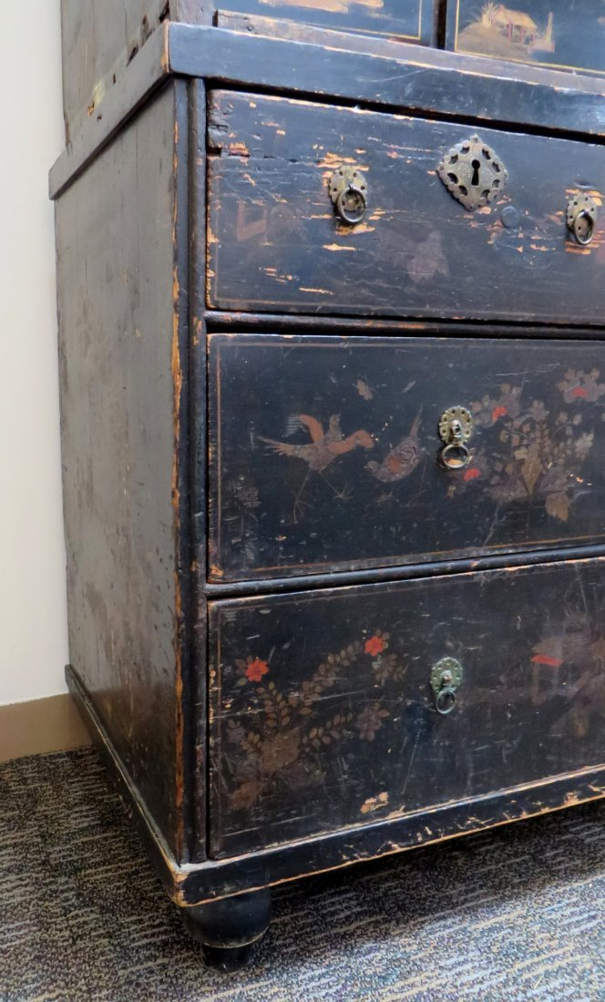 Chinoiserie Chest On Chest, 19th C. - 4