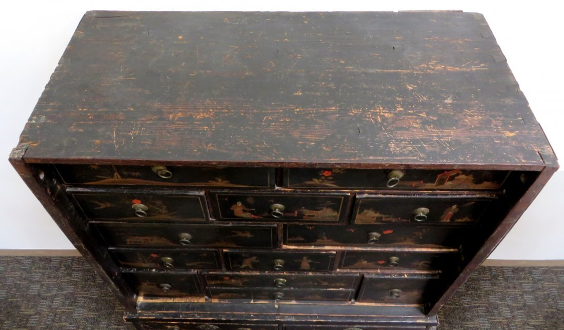 Chinoiserie Chest On Chest, 19th C. - 7