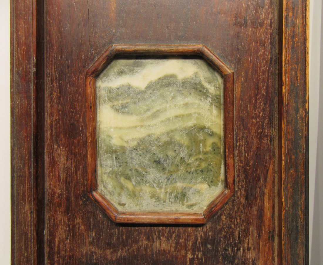 Pair Of Chinese Panels With Inset Scholar Stones - 6