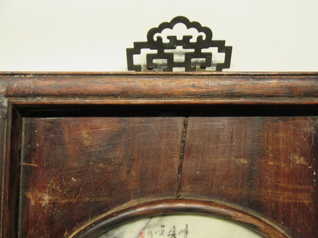 Pair Of Chinese Panels With Inset Scholar Stones - 8