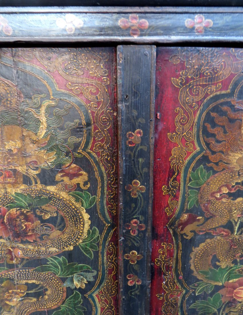 Tibetan Dragon Painted Cabinet - 4