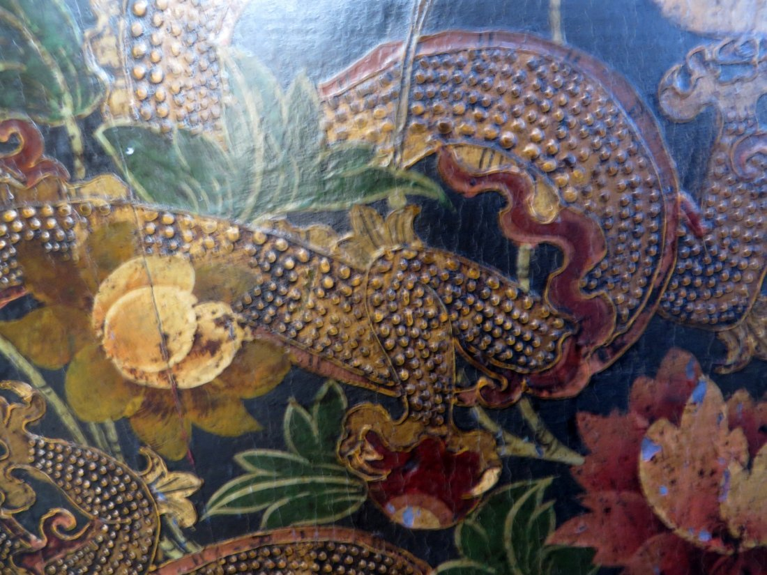 Tibetan Dragon Painted Cabinet - 5