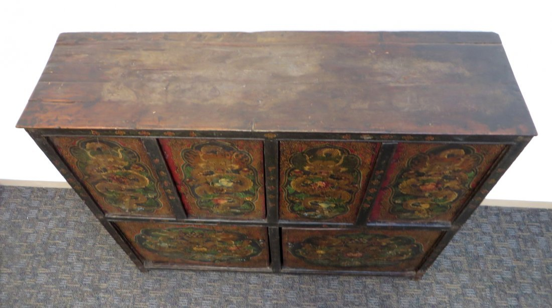 Tibetan Dragon Painted Cabinet - 7