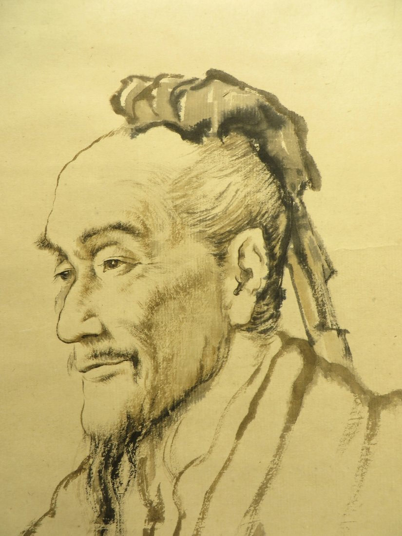 Portrait On Scroll Attr. Zhaohe Jiang - 3