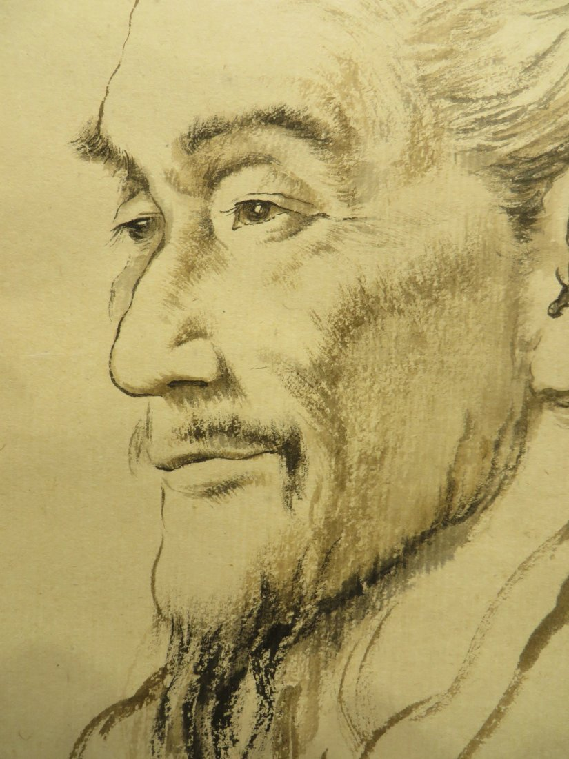 Portrait On Scroll Attr. Zhaohe Jiang - 5