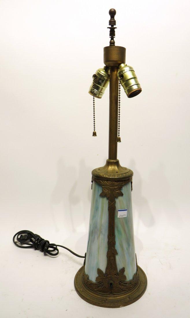 Slag Glass Lamp Base