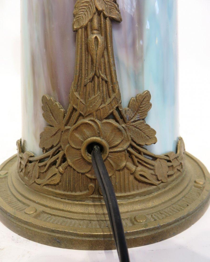 Slag Glass Lamp Base - 3