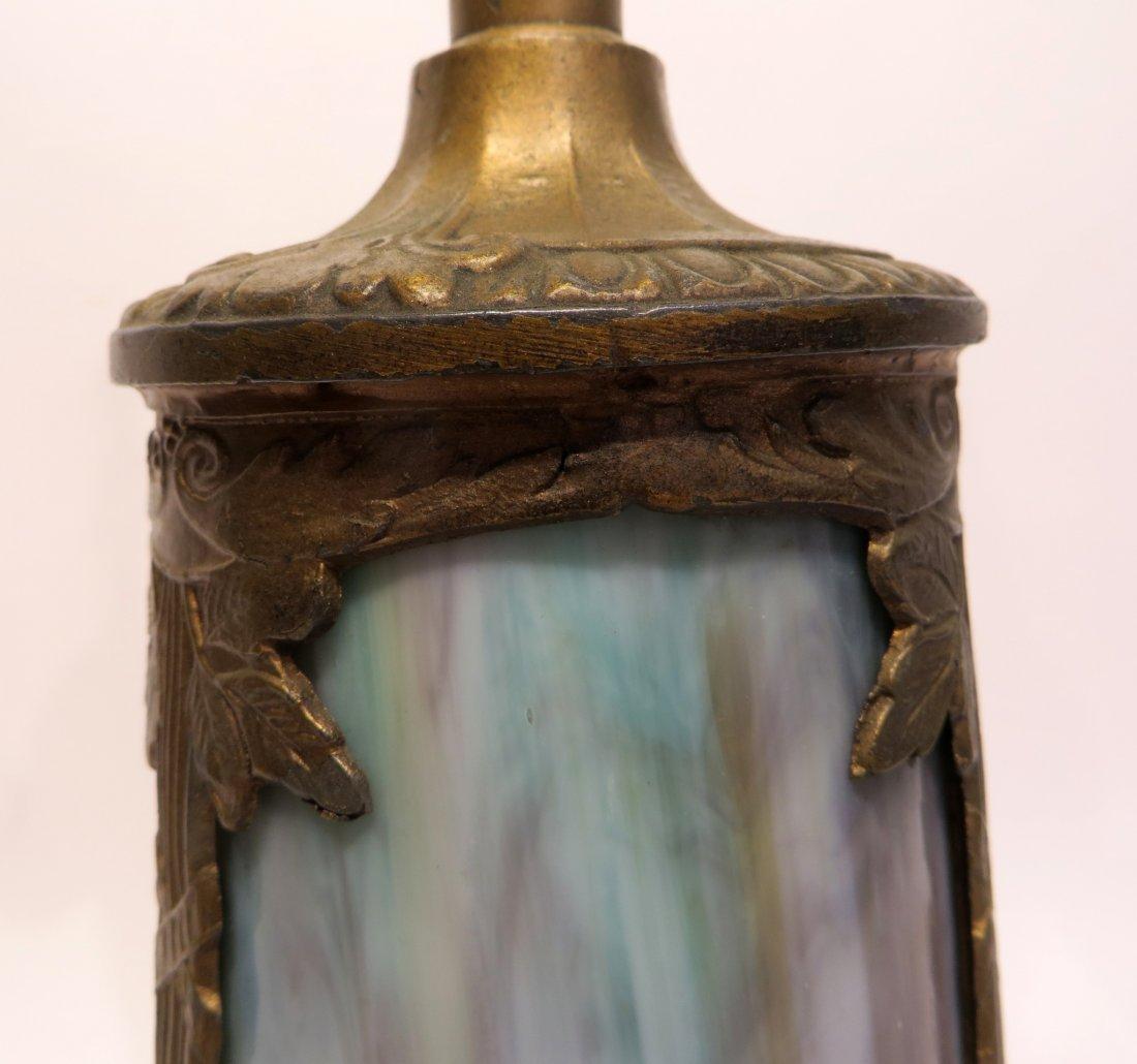 Slag Glass Lamp Base - 5