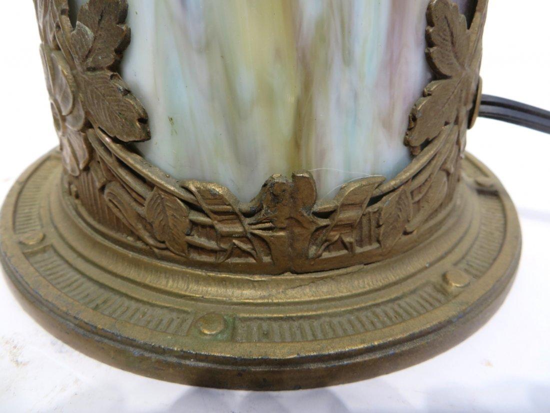 Slag Glass Lamp Base - 6
