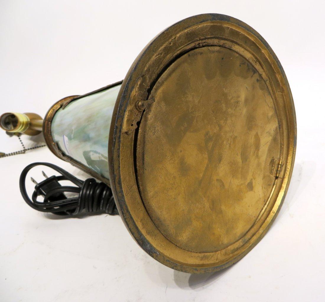 Slag Glass Lamp Base - 7