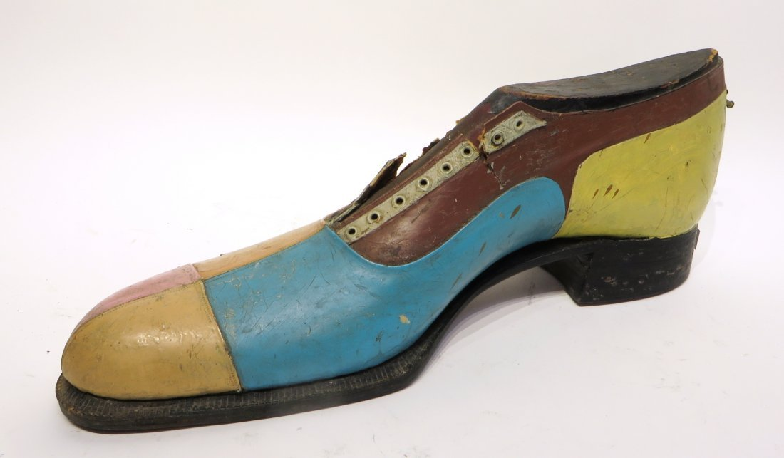 Carved & Leather Shoe For Shop Display Sign