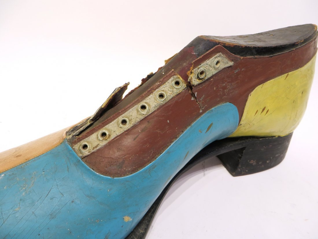 Carved & Leather Shoe For Shop Display Sign - 2